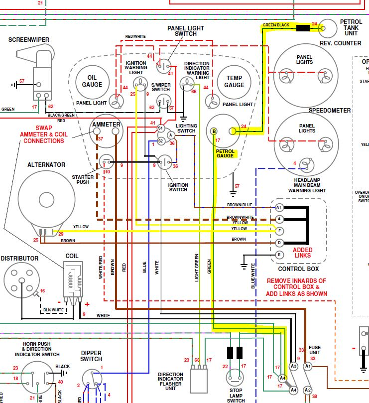 Triumph Tr3a Wiring Diagram on chopper wiring diagram