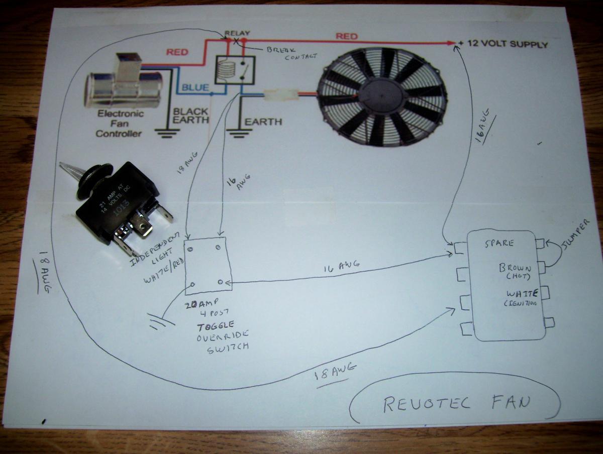 Revotec Fan Wiring On A Tr6 - Tr6 Forum