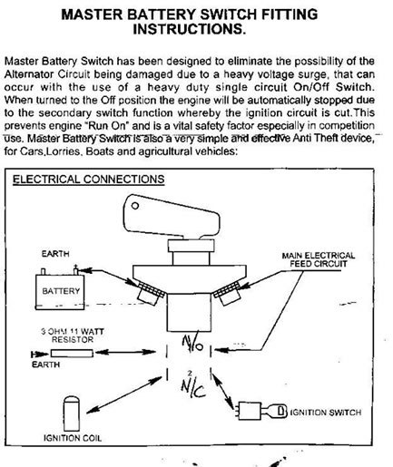 carling on off switch wiring diagram battery cut off switch wiring diagram #5