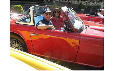 James and Rita in their TR4