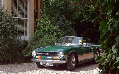 Paul and Gill's TR6 looking very well here.