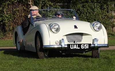 Bob's TR2 making its first outing in 30 years!