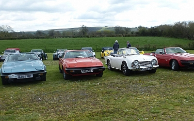 Meeting up with other classics at the Atwell Wilson Motor Museum.