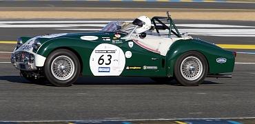 Success at Le Mans Classic 2016 for Millers Oils sponsored Triumph TR3S.