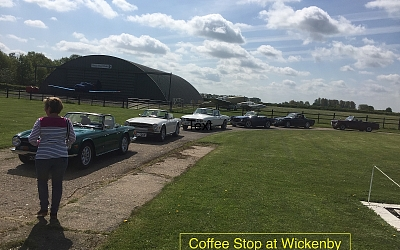 Coffee stop on the way to Cleethorpes during the TRs to the Seas run in May.