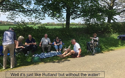 Only we could picnic at the side of the road during the Tour of Lincs 100 in May.