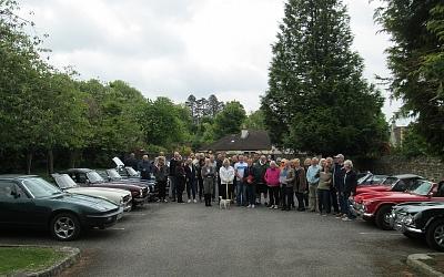 Assembled cars at The Bear of Rodborough Hotel