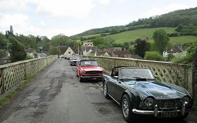 Entering Wales via Brockweir Bridge over the River Wye