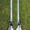 Stanchions for TR2/3/3A pre-60000, matching pair.