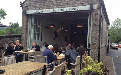Lunch at the Bull's Head, Castleton.