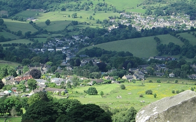 The Derwent valley from Curbar Edge