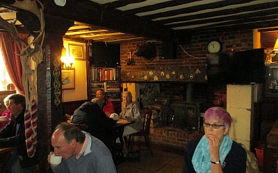 Coffee at the Blue Boar Inn