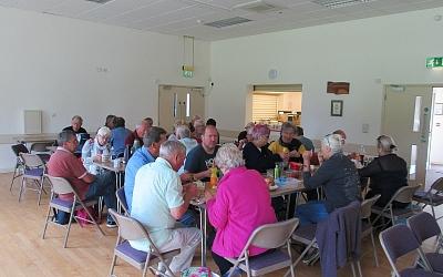 Indoor picnic at Down Ampney Village Hall