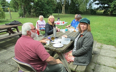 Outdoor Picnic at the Village Hall with the sun shining!