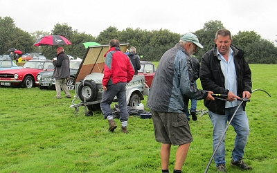 Packing up and still raining.