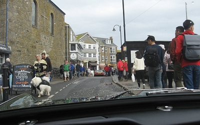 Gently through the holiday crowds on St. Ives seafront
