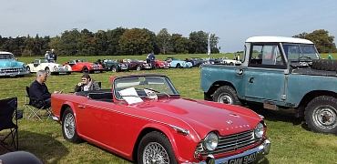 Kennet Valley TR Group members enjoy a day at Westgreen House Classic show