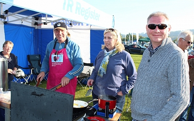 Head Chef Dave and his helpers provided good food all day from the BBQ