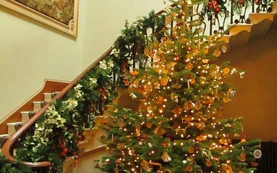 The house was decked for a Georgian Christmas