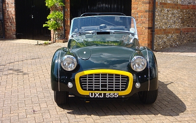 Front view of Ian's TR3