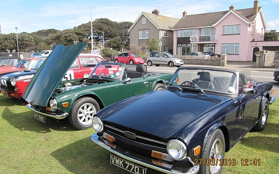 Mark Inley's (Somerset Triumphs) green TR6, and Dave Green's (Brunel Group) blue TR6
