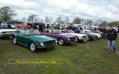 Good turnout at County Wheels Day, Woodhall Spa in April.