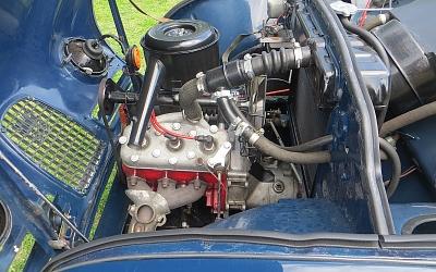 Diminutive Saab three pot, two stroke motor