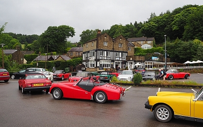 Coffee stop at The Millstone, Hathersage.