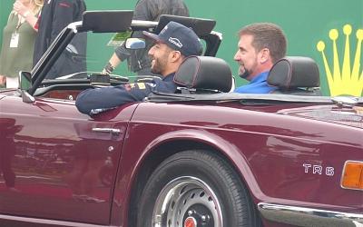 Ricciardo ready for the parade.