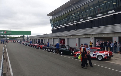 All lined up in the National pits.