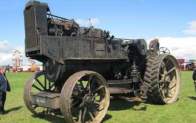 Diesel conversion of Fowler steam ploughing engine.