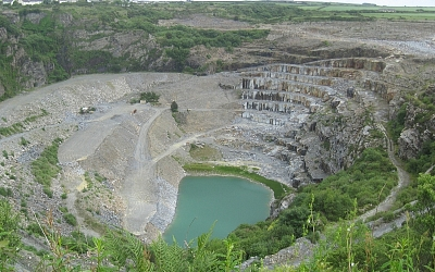 Delabole Slate Quarry.