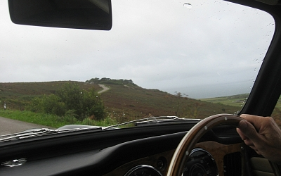 Not the best view of the Atlantic from the B3306 near Zennor.