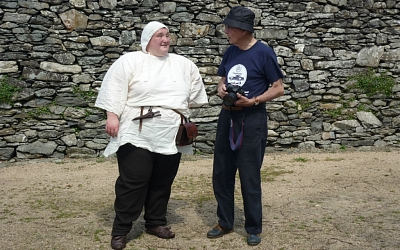 Mediaeval cook - the one on the left!!