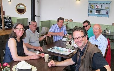 Coffee stop at Morris's Garden Centre, Usk