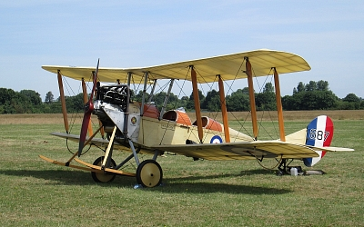 Recreated De Havilland BE2c - the world's first purpose-built military plane.