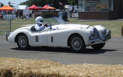 The famous Appleyard XK120 in action