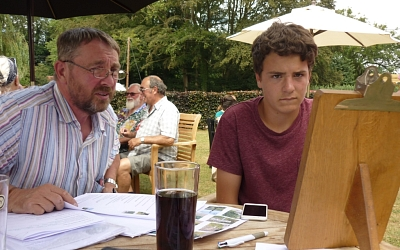 Deep concentration deciding on menu choices