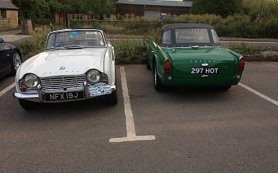 Nick's & Irving's TR4s at the August meeting