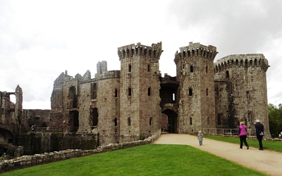 Raglan castle is very well preserved