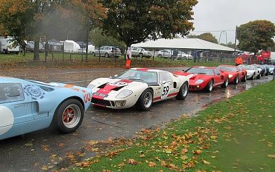 Impressive line-up of GT40s
