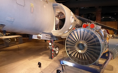 Harrier with Pegasus engine removed