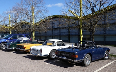 Glavon TRs at the Norman Foster designed former Renault Building