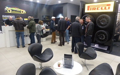 Pirelli's reception area
