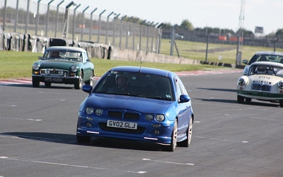 Tim's MG ZR at Donnington (well it was an MGs On Track event!)