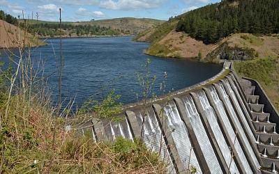 Clywedog Reservoir Dam