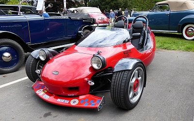 One of Mark Grinnall's more recent products, the BMW powered Scorpion.
