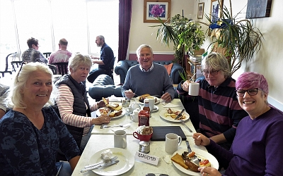 A hearty breakfast at Chedworth Farm Shop and Cafe