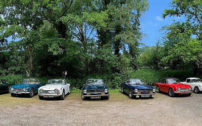 Parked up at the Old Station Cafe, Tintern.
