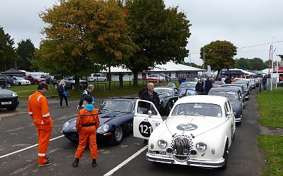 Jags mustering for the Norman Dewis Trophy Race